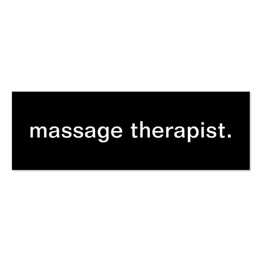 Massage Therapist Business Card