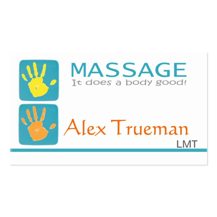 Massage Therapist Business Card | Zazzle