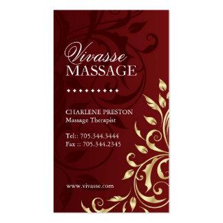 Massage Therapist Business Card