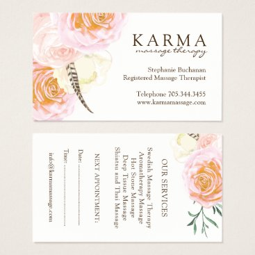 Professional Business Massage Therapist Business Cards
