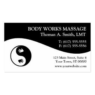 Massage Therapist Business Cards