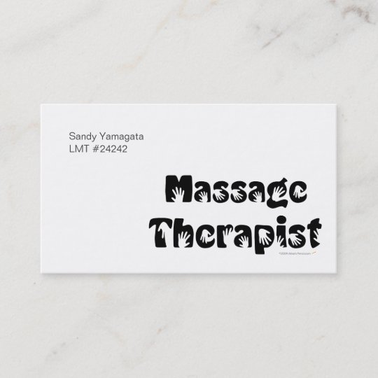 Massage therapist business cards template zazzle massage therapist business cards template cheaphphosting