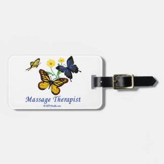 Massage Therapist Butterflies Bag Tag