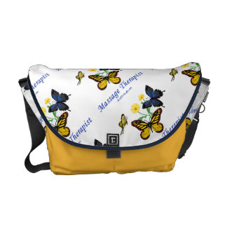 Massage Therapist Butterflies Courier Bag