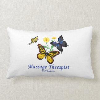 Massage Therapist Butterflies Throw Pillow