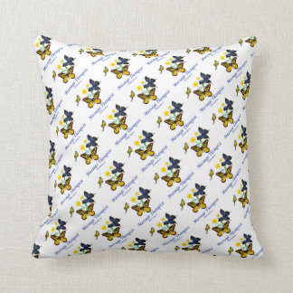 Massage Therapist Butterflies Throw Pillow