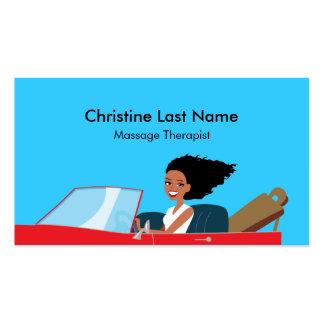 Massage Therapist Card 1 Business Card Templates