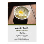 Massage Therapist Chic Water Lily Appointment Business Card Template