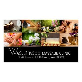 Massage Therapist, Clinic, Wellness Business Card