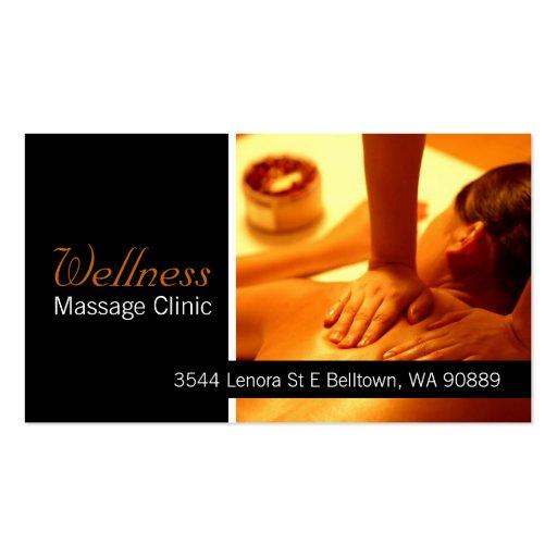 Massage Therapist Clinic Wellness Business Card