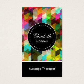 Massage Therapist- Colorful Mosaic Pattern Business Card
