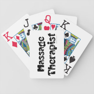 Massage Therapist Custom Deck of Playing Cards