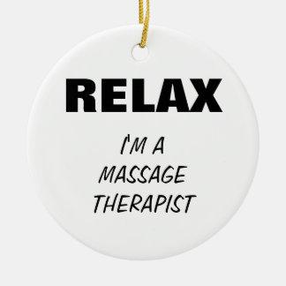 Massage Therapist (customizable) Ceramic Ornament