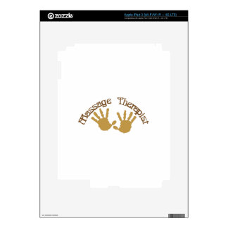 Massage Therapist Decals For iPad 3