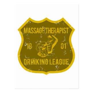 Massage Therapist Drinking League Postcard
