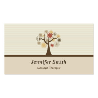 Massage Therapist - Elegant Natural Theme Business Cards