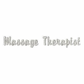 Massage Therapist Embroidered Shirt