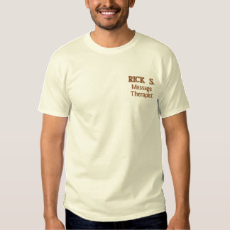 Massage Therapist Embroidered T-Shirt