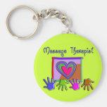 Massage Therapist Funky Artsy Design Gifts Keychains