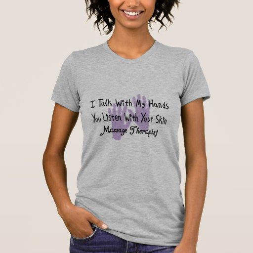 Massage therapist Gifts--Hands Design Tshirt