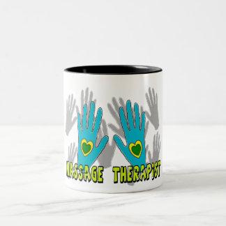 Massage Therapist Gifts Two-Tone Coffee Mug