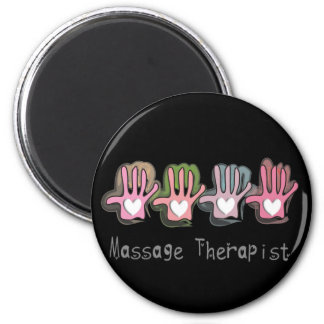 "Massage Therapist  'Hands"" Design Gifts Magnet"