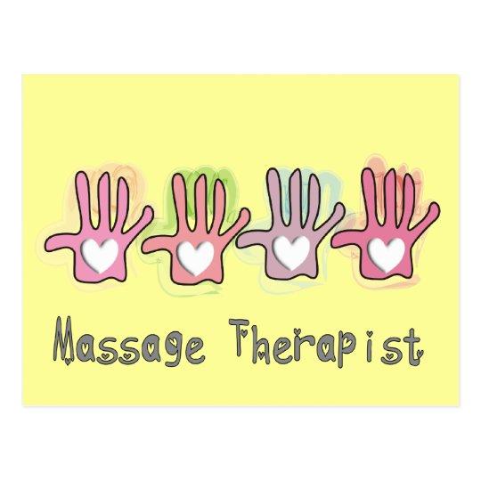 "Massage Therapist  'Hands"" Design Gifts Postcard"