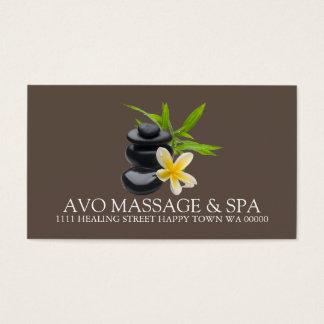 Massage Therapist Health Clinic Wellness Business Card