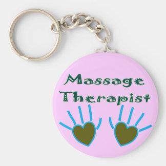 Massage Therapist Heart Hands Gifts Keychain