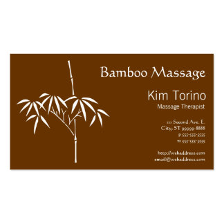Massage Therapist Japanese Bamboo Business Card Templates