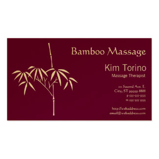 Massage Therapist Japanese Bamboo Double-Sided Standard Business Cards (Pack Of 100)