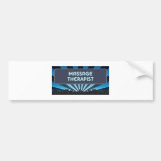 Massage Therapist Marquee Bumper Sticker