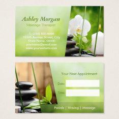 Massage Therapist Meditation Salon Appointment Business Card at Zazzle