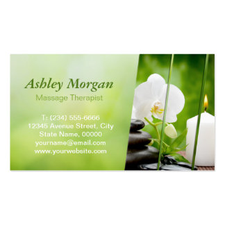 Massage Therapist Meditation Salon Appointment Double-Sided Standard Business Cards (Pack Of 100)