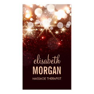 Massage Therapist - Modern Glitter Sparkle Double-Sided Standard Business Cards (Pack Of 100)
