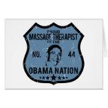 Massage Therapist Obama Nation Greeting Card