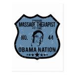 Massage Therapist Obama Nation Post Card