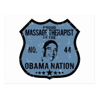 Massage Therapist Obama Nation Postcard