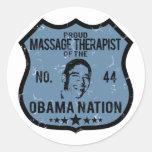 Massage Therapist Obama Nation Round Stickers