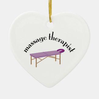 Massage Therapist Christmas Ornaments