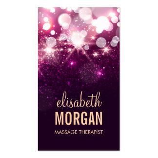 Massage Therapist - Pink Glitter Sparkles Business Card