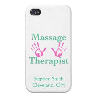 Massage Therapist: Pink Hand Prints iPhone 4 Case