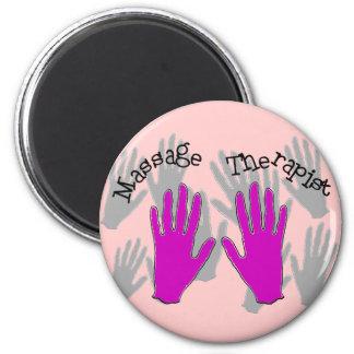 Massage Therapist PINK  Hands Design Magnet