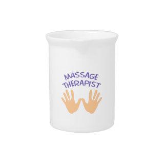 MASSAGE THERAPIST DRINK PITCHERS