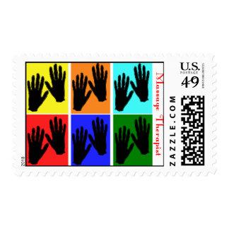 Massage Therapist Pop Art Postage Stamps