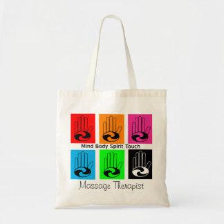 Massage Therapist Pop Art Totes Budget Tote Bag