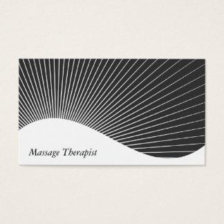 Massage Therapist Ray Burst Business Card