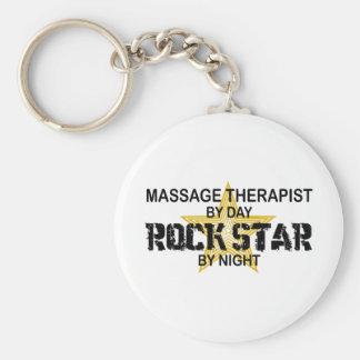 Massage Therapist Rock Star Keychain