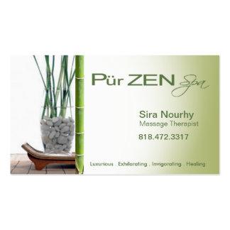Massage Therapist Spa Business Card template