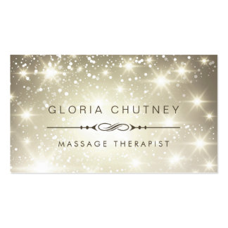 Massage Therapist - Sparkling Bokeh Glitter Double-Sided Standard Business Cards (Pack Of 100)